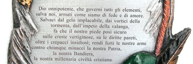 """""""Preghiera dell'Alpino"""": blasfema e inutile (M. Mazzetto)"""